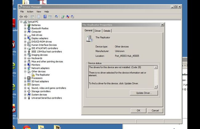 Manually Installing Drivers For Your Replicator (Original)   Earlier