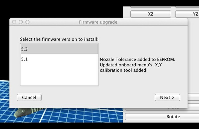 Upgrading Firmware for the Replicator (Original) via